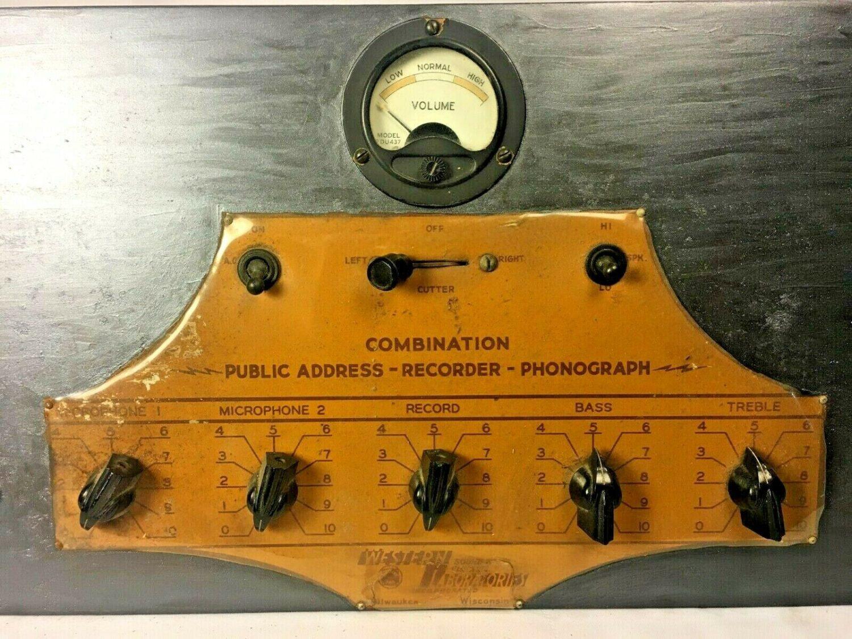 Western Sound Electric Laboratories Tube Mic Preamplifier PA Mixer Amp RARE!!!!!
