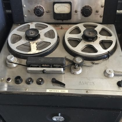 Ampex Model 300 Mono Tape Machine Vintage Analog RARE! Museum-Piece