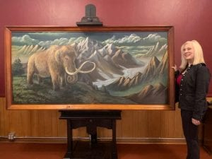 "Large original fine art acrylic painting by Sylvia Massy named ""Mammoth""."
