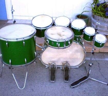 Trixon Speedfire 50s Calfskin Drum Kit German Sonor Melted Kick RARE!!!!!