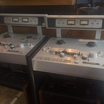 Studer A-80 Crystal Sound 0656  1/4″ Reel Tape Machine Vintage Analog Master Recorder SUPER RARE!!!!!!!!!