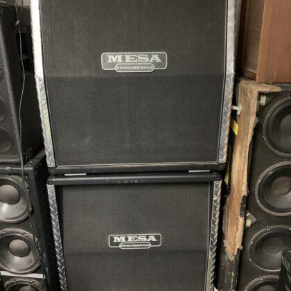 Mesa Engineering Guitar Full Stack Slant and Straight Cab RARE Diamond Plate Custom Sides