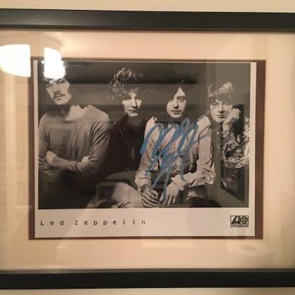 Led Zeppelin Jimmy Page Original Autograph Promo Atlantic Records Guitar God Signature RARE