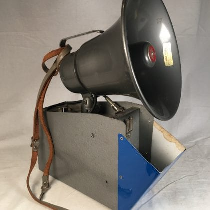 Western Electric Portahorn Bullhorn Like RCA Megaphone Announcer Battery Operated Portable P.A. Protest