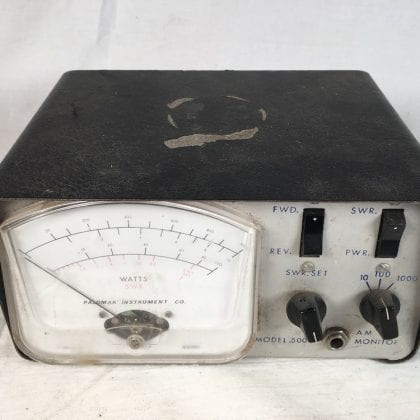 Palomar Model 500 SWR Watt Meter CB Radio Power Measurement Vintage 70s