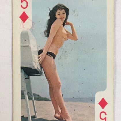 """Nudie Playing Card """"Five Of Diamonds"""" Vintage 1960s Collectable Original"""