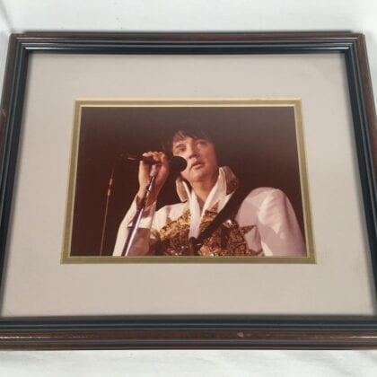 Sad Elvis Presley Unique Photo Last Concert Bloated High and Minutes to Death RARE!!!!