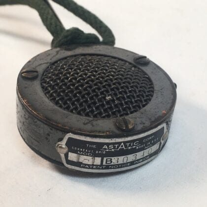Astatic L-1 Microphone Crystal Vintage RARE! Compact Lavalier Lapel Mic with Long Fixed Audio Cable Classic Piezoelectric