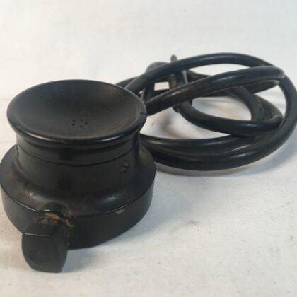 Aviometer Type 9044 Aviation Microphone Vintage Bakelite Carbon Puck Long Frame 1/4″ Connection
