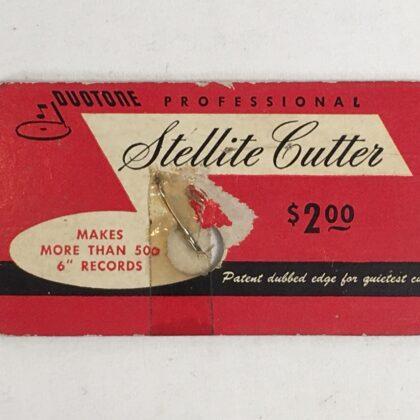 Duotone Professional Stellite Cutter for Vintage Lathe Phonograph Patent Dubbed Edge Record Acetate Vinyl 78rpm