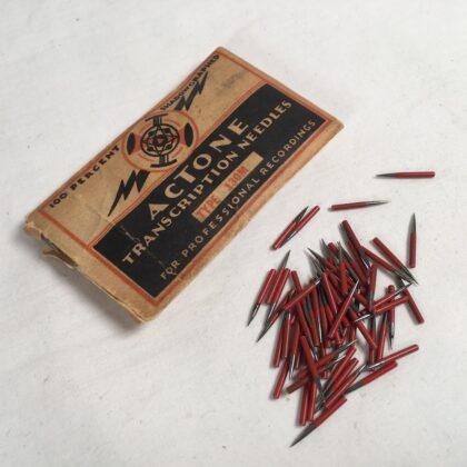 Actone Type 130M Transcription Needles Original Vintage Envelope Pack Several Dozen