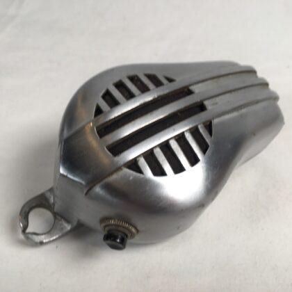 Turner P-9-D Microphone Parts Shell Body No Cartridge Project Mic Cast Nickel Chrome Vintage Art Deco P9D