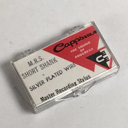 Capps M.R.S. Short Shank Master Recording Stylus Vintage Vinyl Cutting Needle RARE! Silver Plated Wire #2