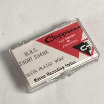 Capps M.R.S. Short Shank Master Recording Stylus Vintage Vinyl Cutting Needle RARE! Silver Plated Wire #1