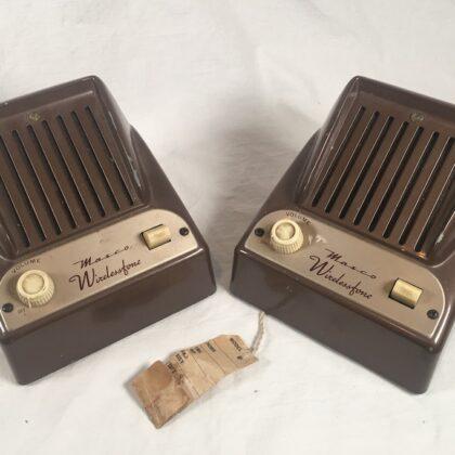 Masco WF-2 Wirelessfone Tube Intercom System Vintage Valve Art Deco Transmitter Receiver Amplifier Wireless Phone
