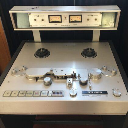 Studer A80 Analog Mastering Tape Deck 1/4″ x 10″ Reels Crystal Electronics Vintage Machine 70s 80s
