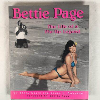 """Bettie Page """"The Life of a Pin-Up Legend"""" Book Signed By Bettie!!! Naughty Picture Centerfold Autographed"""