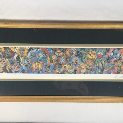 """Robert Williams """"Rogue's Gallery Alphabet"""" Framed and Matted Signed Print (of 300 Made) L'Imagerie Los Angeles Guns + Roses Robt."""