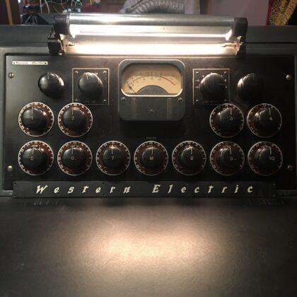 Western Electric Recording Console RARE RARE RARE Vintage 10 Mic Pre-Amp Tube Inputs Mono Output Mixer WE