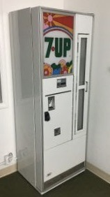 RARE 7-Up Un-Cola Vending Machine with Peter Max Art Panel on Front Bottle Pull Coin-Op