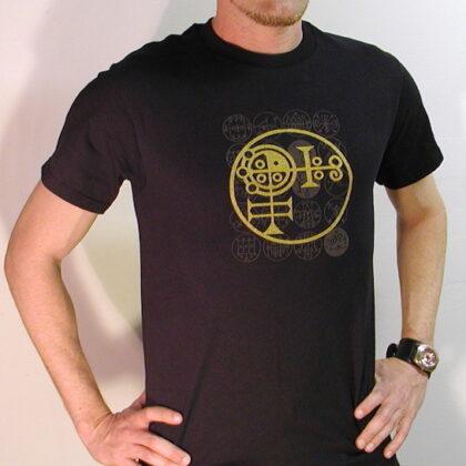 """Symbology """"Mystic"""" T-Shirt – Original Black & Gold Ink Design – New Limited Short Sleeve"""
