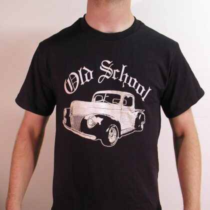 "Old School ""Hot Rod Truck"" T-Shirt –  '40 Ford Pick-Up Truck Original Design – Limited New Short Sleeve"